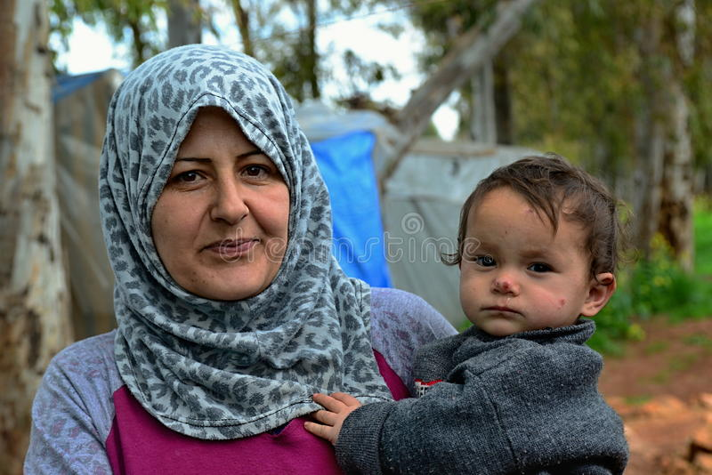 Porträt von Flüchtlingen lizenzfreie stockfotos