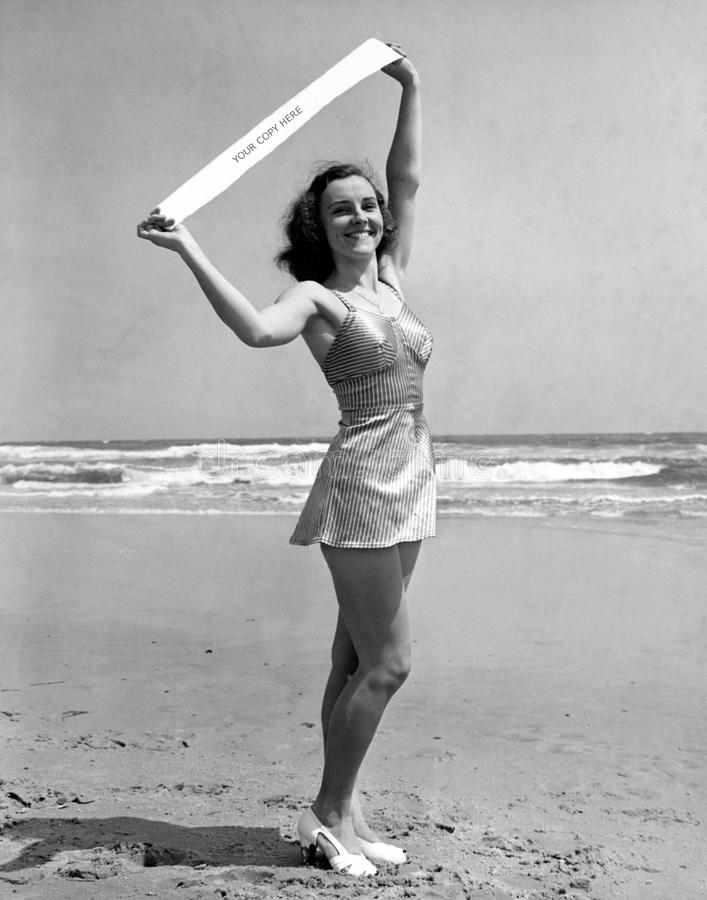 Porträt von Fräulein Atlantic City 1940 (alle dargestellten Personen sind nicht längeres lebendes und kein Zustand existiert Lief lizenzfreies stockbild