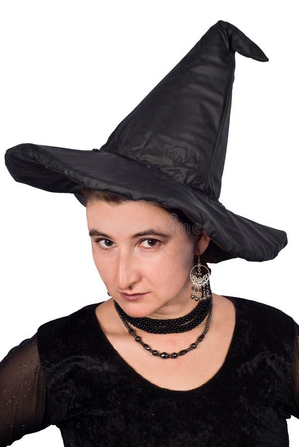 Porträt von Halloween-Hexe stockbilder