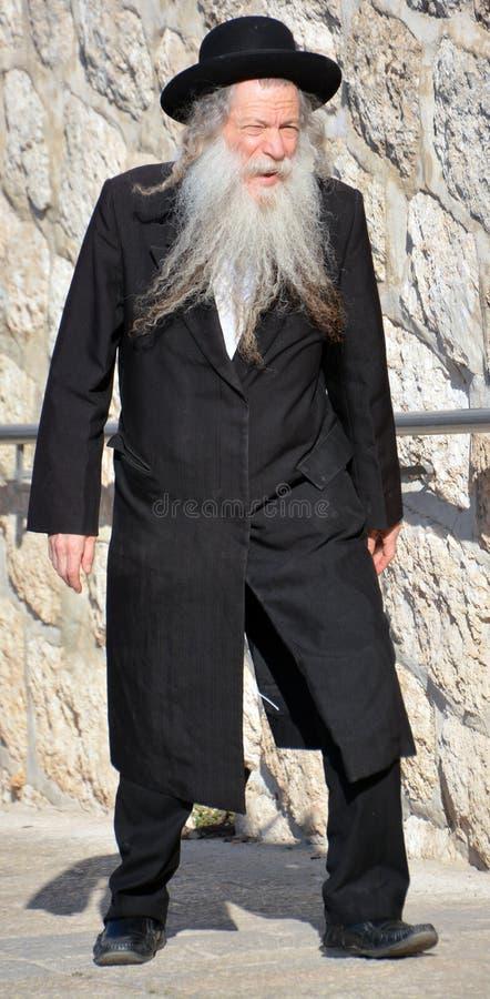 Porträt von Hasidism-Mann stockbilder