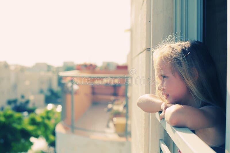 Porträt von 5 Jahren alten Mädchen stockfoto