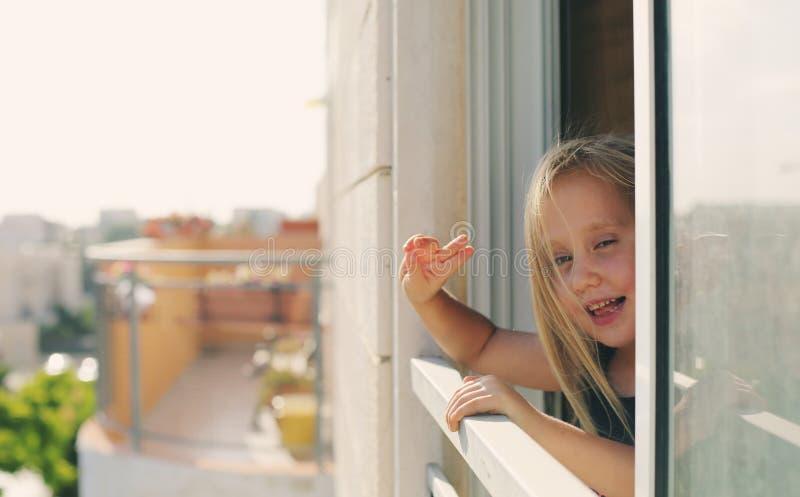 Porträt von 5 Jahren alten Mädchen stockfotografie