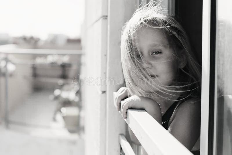 Porträt von 5 Jahren alten Mädchen lizenzfreies stockfoto