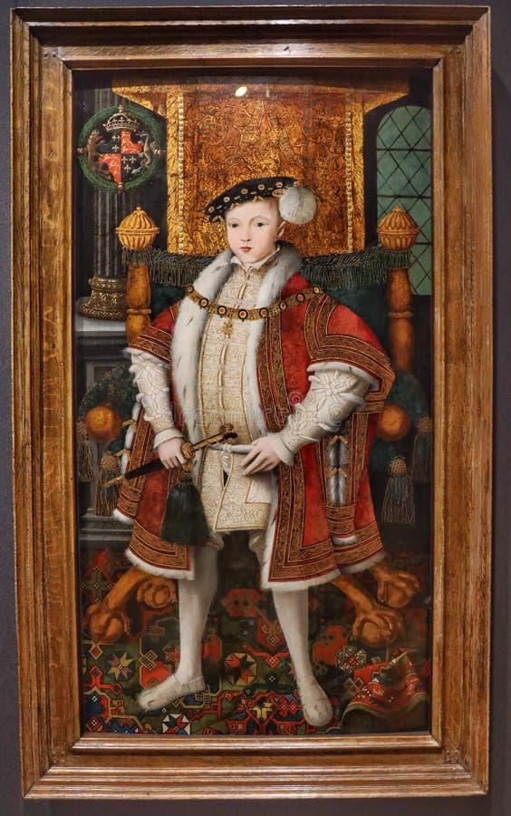 Porträt von König Edward VI stockbild