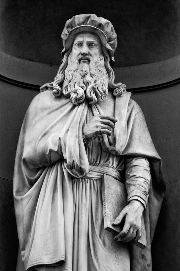 Porträt von Leonardo da Vinci lizenzfreies stockbild