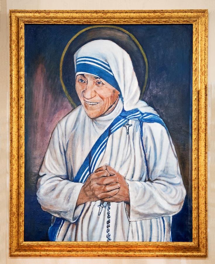 Porträt von Madre Teresa di Calcutta oder Heiliges Lucy stockbild