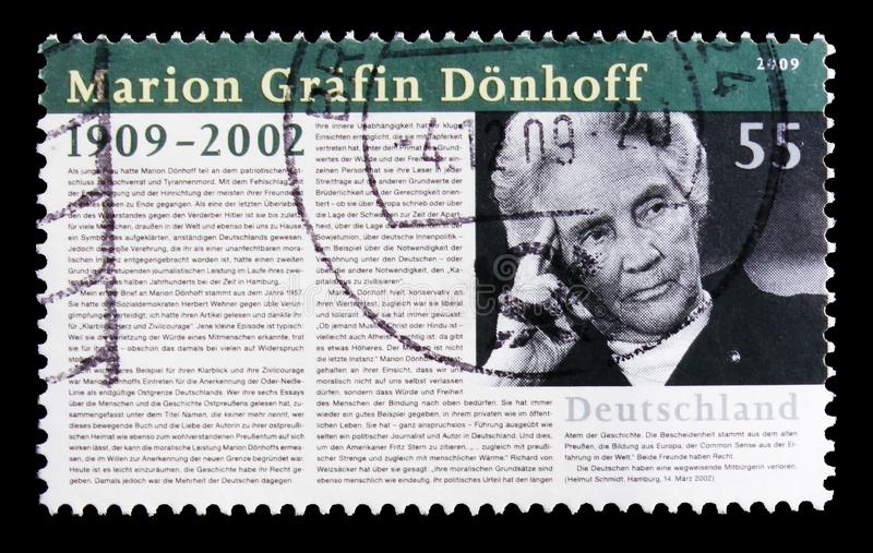 Porträt von Marion Grafin Donhoff, Geburt hundertjähriges serie, circa 2009 stockfotos