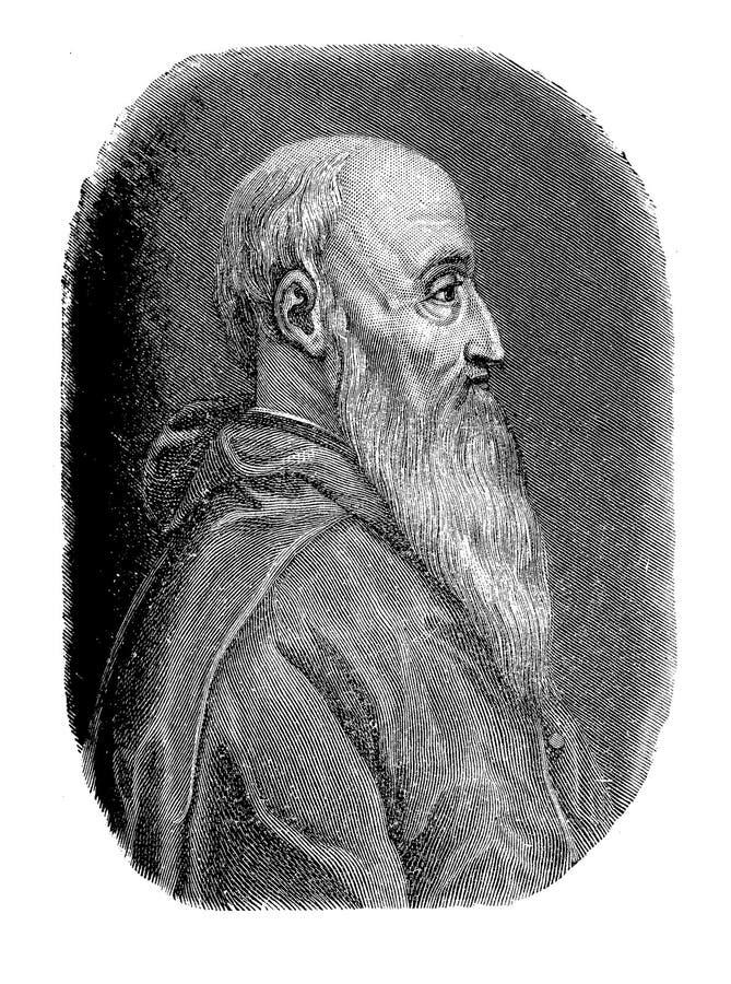 Porträt von Pietro Bembo Italian-Gelehrtem stockbild