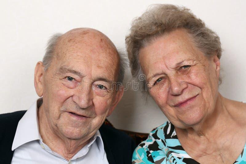 Porträt von Senioren stockfoto