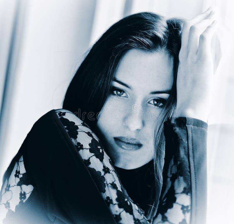 Porträtfrau stockfoto