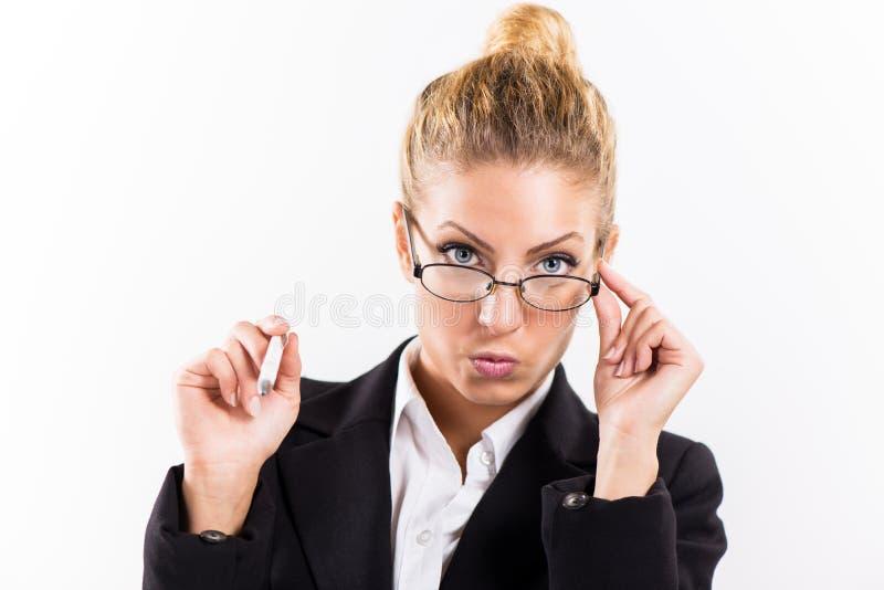 Porträtgeschäftsfrau stockfoto
