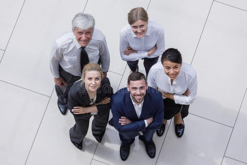 Porträtgeschäftsleute Team lizenzfreies stockfoto