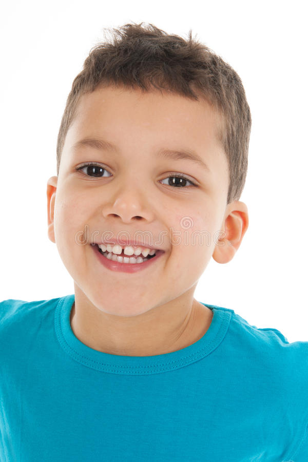 Porträtjunge fünf Jahre alt stockfotografie