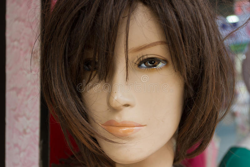 Porträtmannequins in den Straßen lizenzfreies stockbild