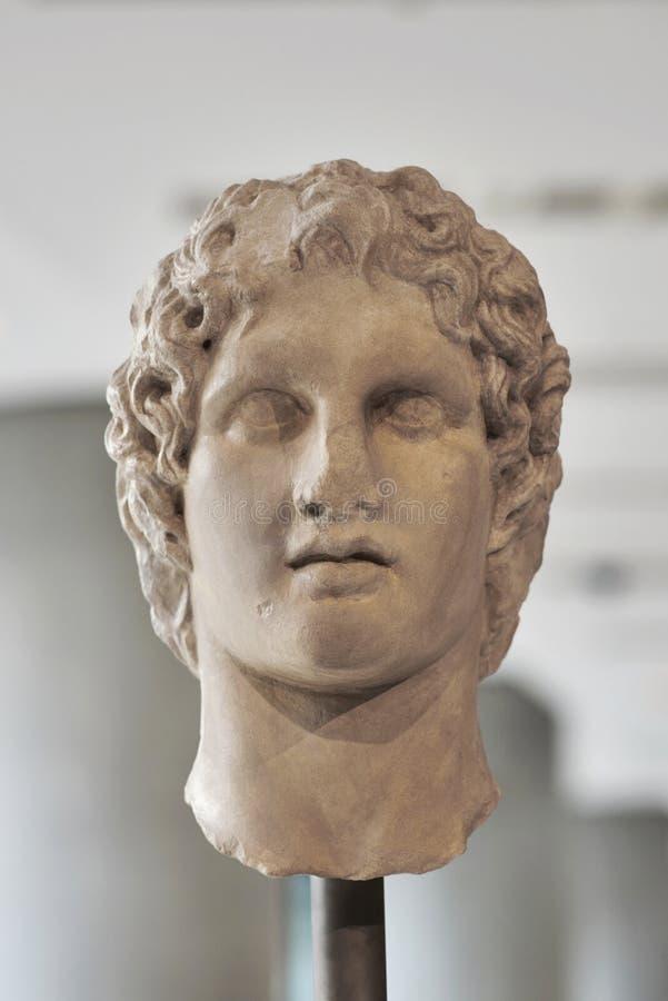 Porträtstatue von Alexander das große stockbilder