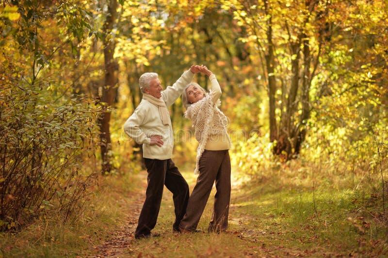 Porträtt av en lycklig äldre kvinna och man royaltyfria foton