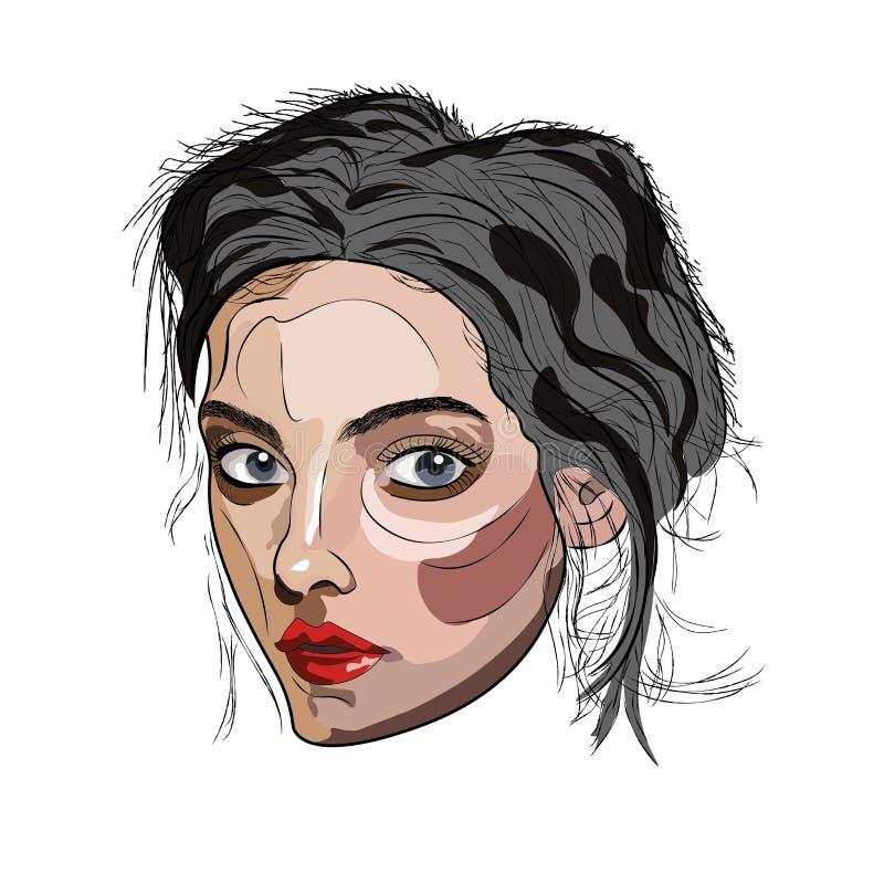 Portr?t Kunstfoto für Logo lizenzfreie abbildung