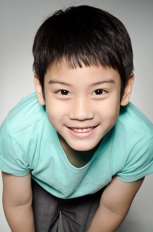 Portrade de garçon mignon asiatique images libres de droits