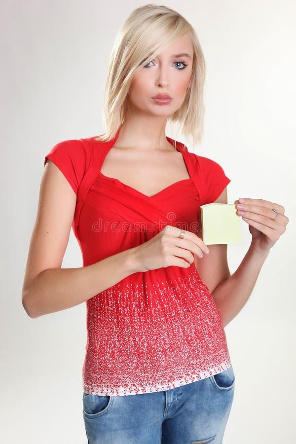 Portrair de la muchacha bonita rubia imagen de archivo libre de regalías