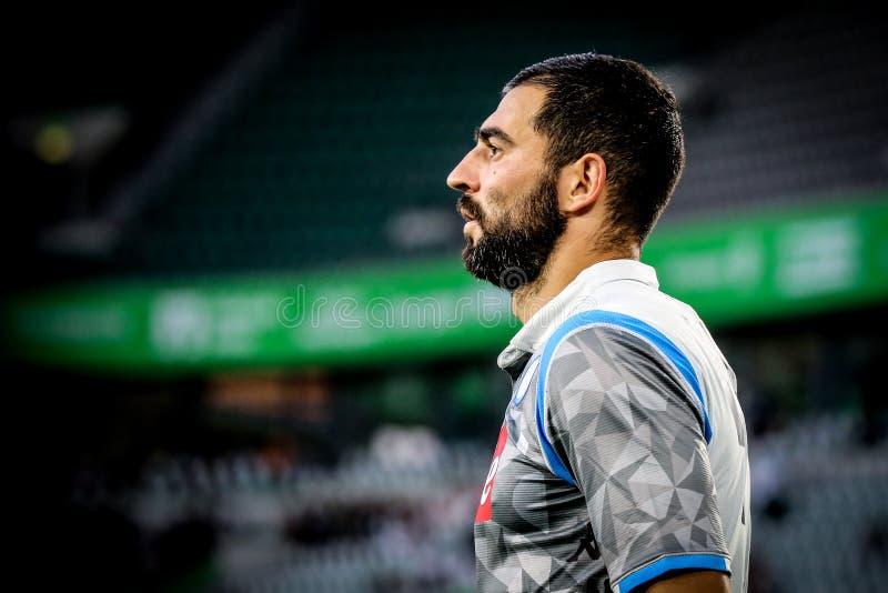 Portrais футболиста Raúl Albiol стоковая фотография