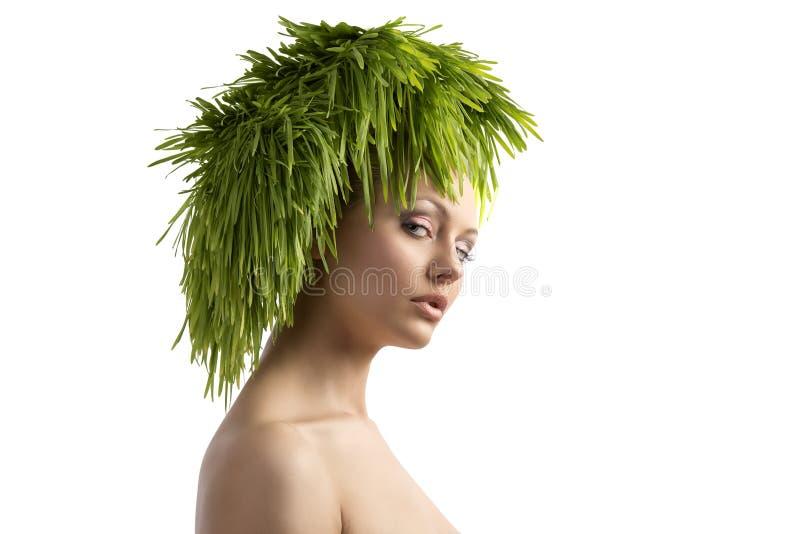 Portrait écologique de fille de beauté images stock
