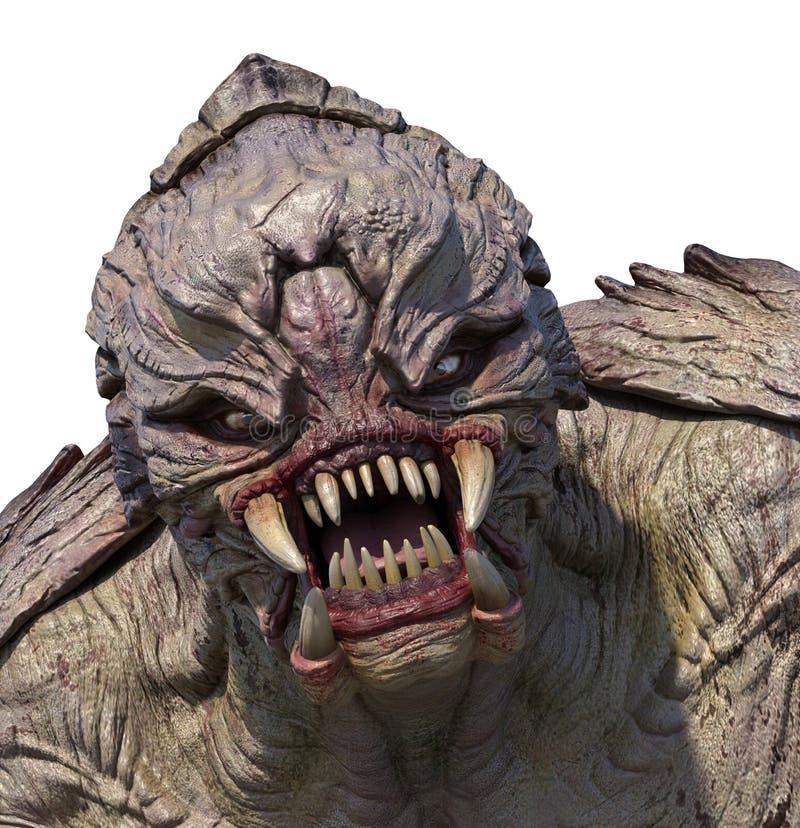 Portrait étranger de monstre illustration stock