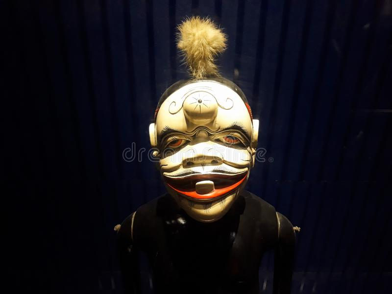 Portrait étroit sur la marionnette dans le vieux musée de marionnette de ville de Jakarta photo libre de droits