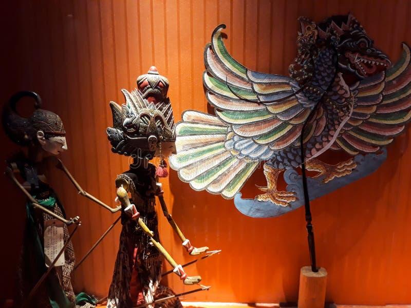 Portrait étroit sur la marionnette dans le vieux musée de marionnette de ville de Jakarta photographie stock libre de droits