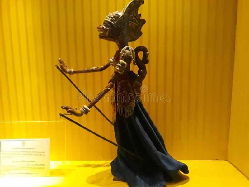 Portrait étroit sur la marionnette dans le vieux musée de marionnette de ville de Jakarta image stock