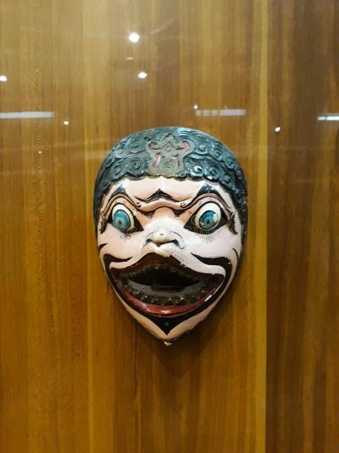 Portrait étroit sur la marionnette dans le vieux musée de marionnette de ville de Jakarta images libres de droits