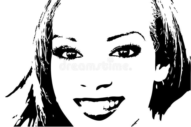 Portrait_0002B1 ilustração royalty free