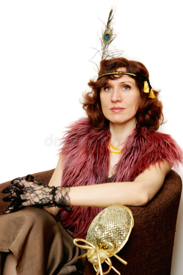 Portrait of the 1920s Style lady royalty free stock photos