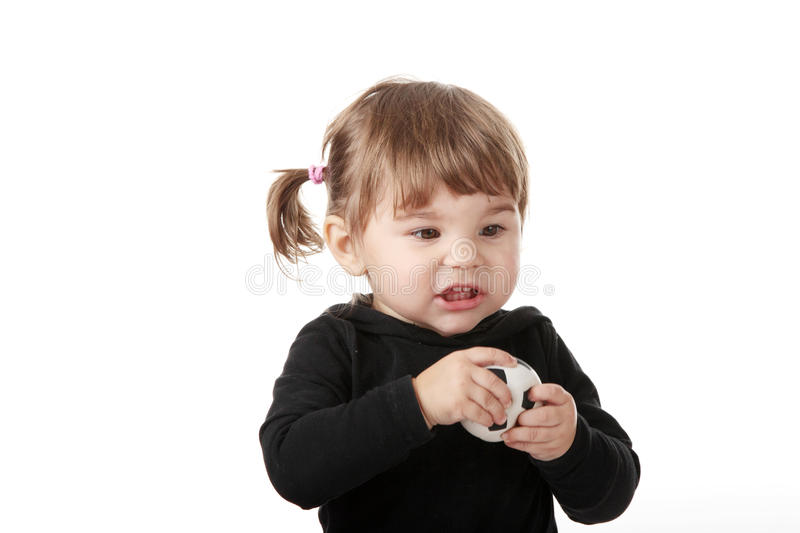Portrait Of A 2 Year Old Girl Royalty Free Stock Image