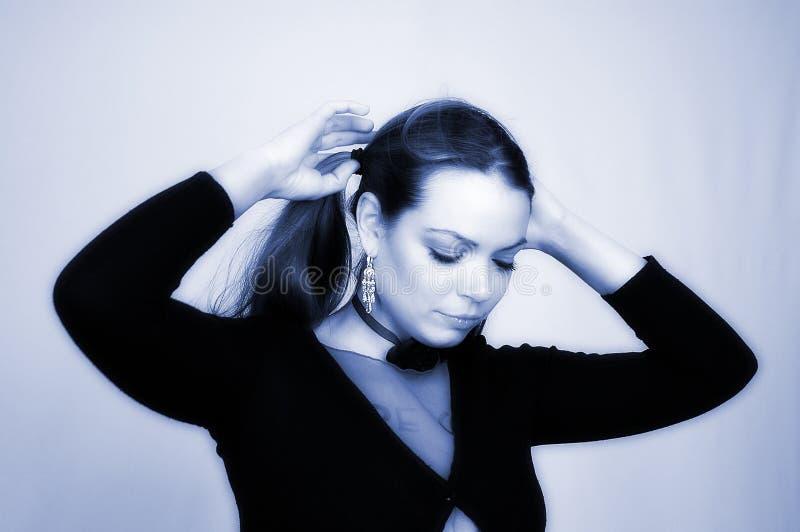 Download Portrait -21 der Frau stockfoto. Bild von karosserie, mädchen - 39204