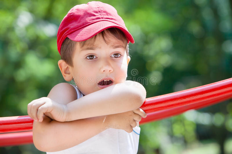 Download Portrait Of A 3-4 Years Boy Stock Image - Image of contemplation, looking: 26081779