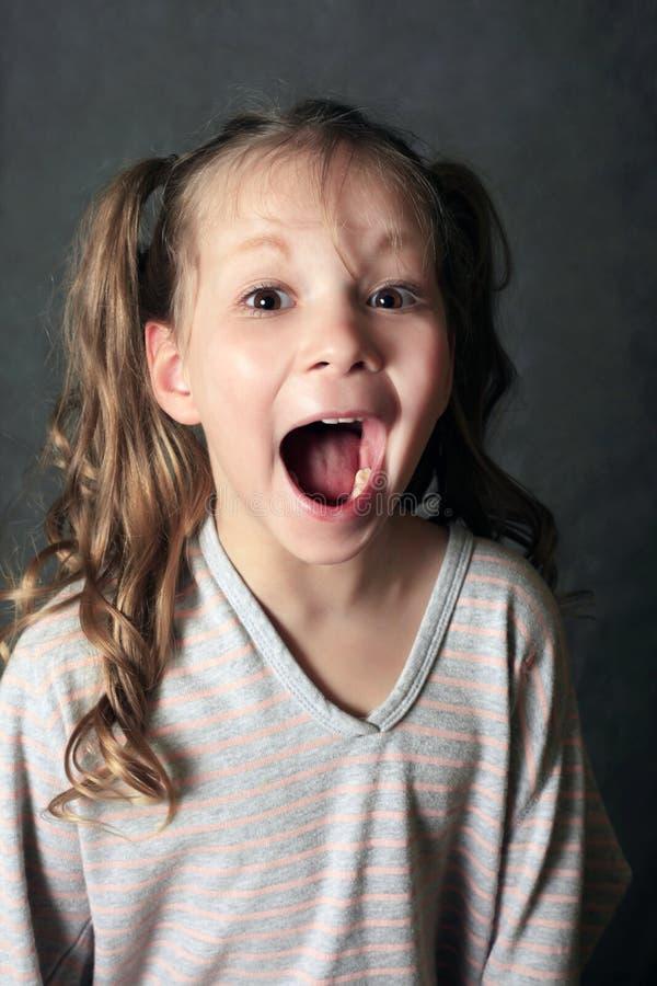 Portrait 5 Jahre Mädchen stockfoto