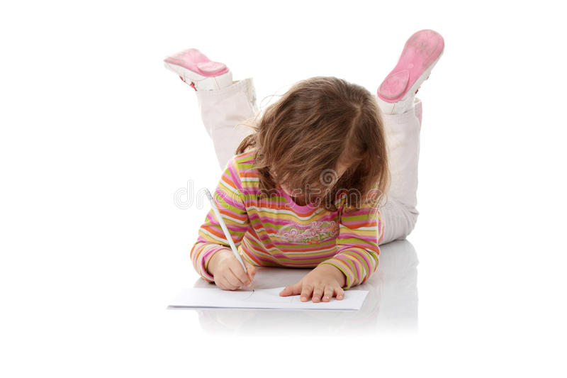 Download Portrait Of A 5 Year Old Girl Stock Image - Image of draw, female: 11772357