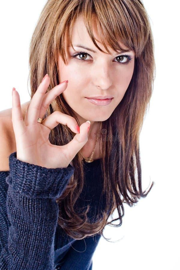 Download Portrait stock photo. Image of sign, portrait, finger - 5585096