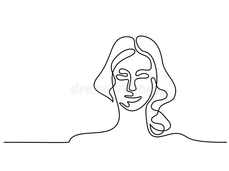 Portrait abstrait d'un logo de femme illustration libre de droits