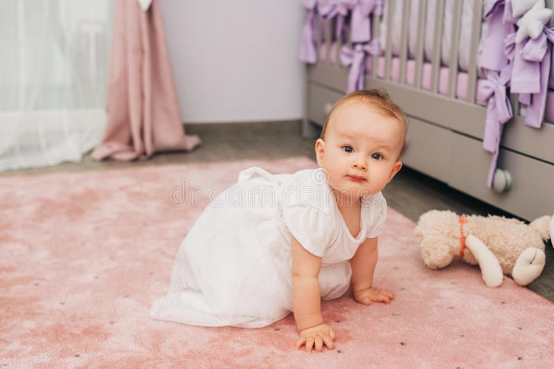 Portrait of adorable baby girl royalty free stock photos
