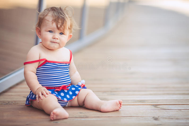 Download Portrait Of Adorable Infant Smiling Girl In Summer Outdoor Stock Image - Image: 37005093