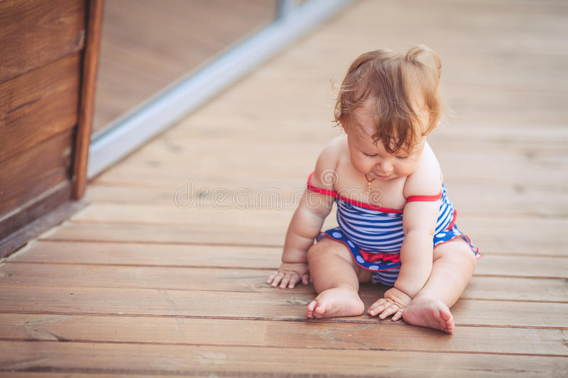 Download Portrait Of Adorable Infant Smiling Girl In Summer Outdoor Stock Image - Image: 37005105