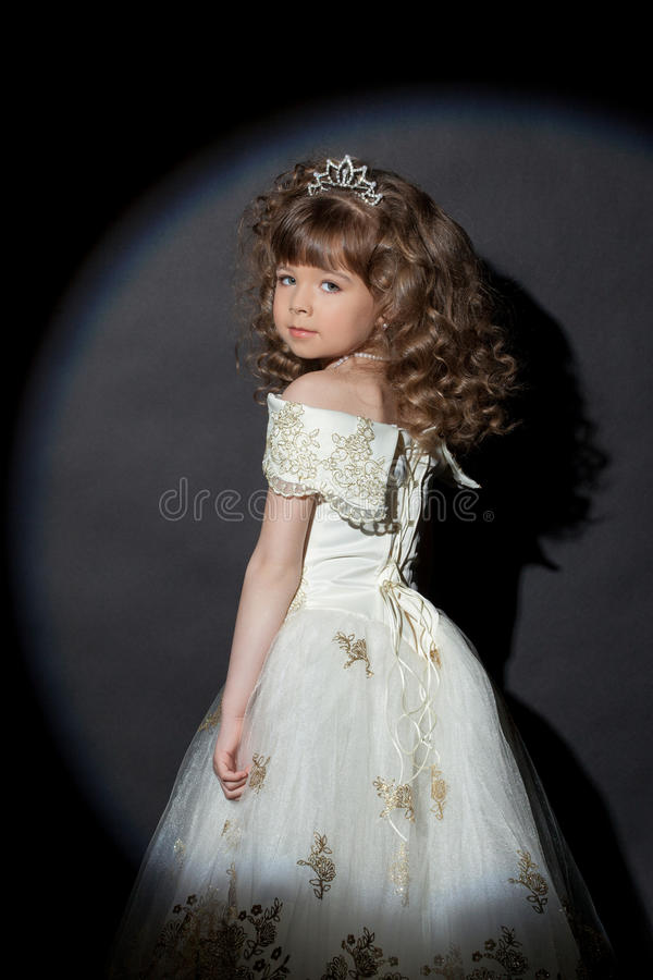 Portrait of adorable little princess with crown royalty free stock photography