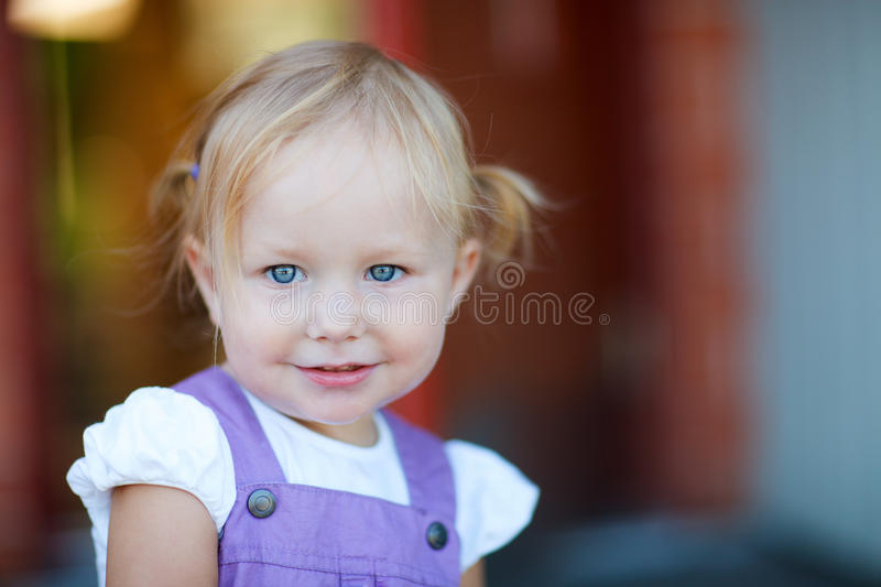 Portrait of adorable playful girl royalty free stock image