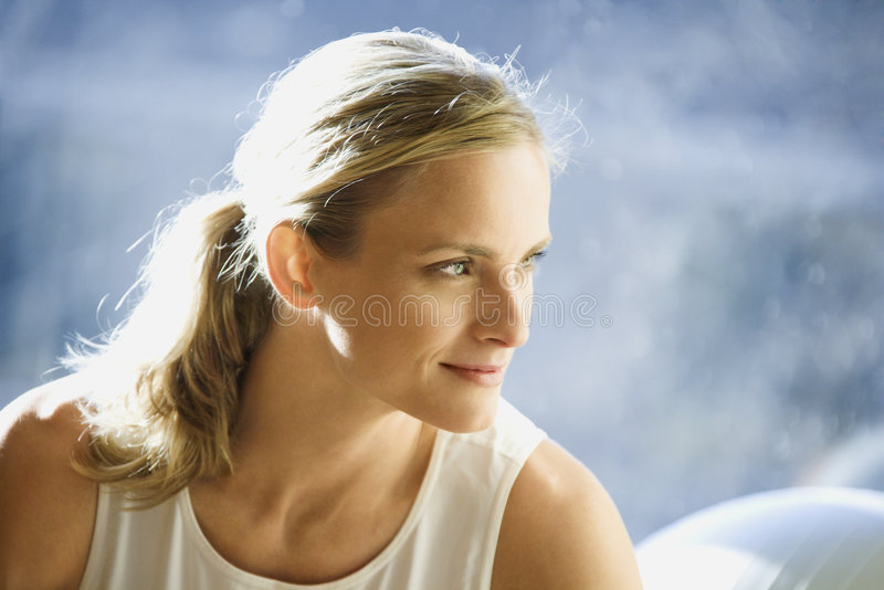 Portrait of an adult female. royalty free stock photo