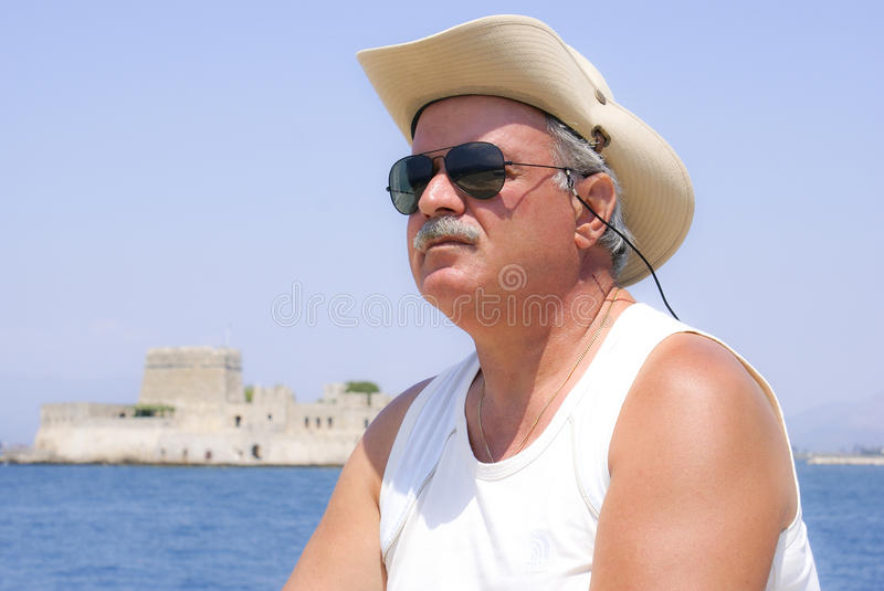 Portrait of adult man royalty free stock photo