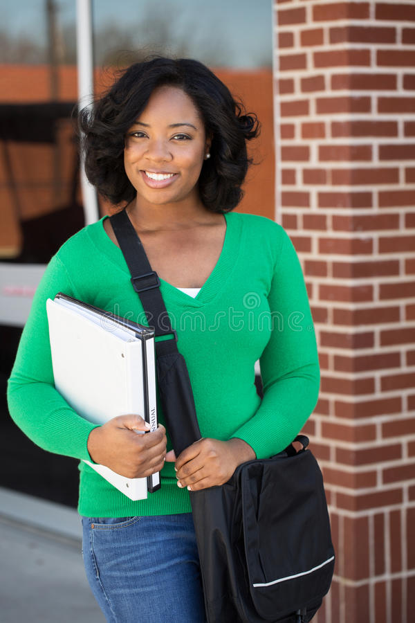 Portrait of an adult student at school. royalty free stock photo