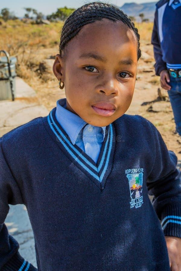 Portrait africain de fille d'enfant image stock