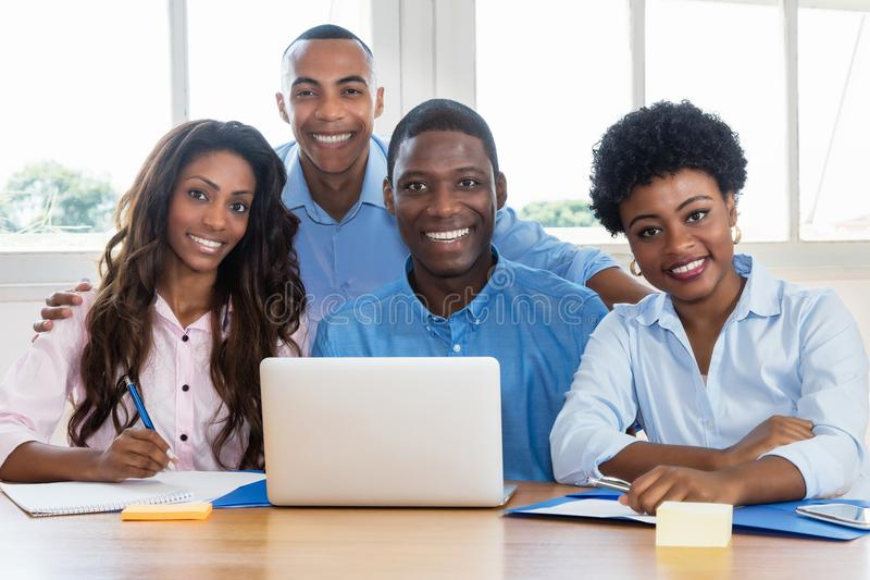 Portrait of african american business team at office royalty free stock photo