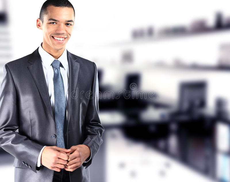 Portrait Of African American Businessman  With Office Stock Photos